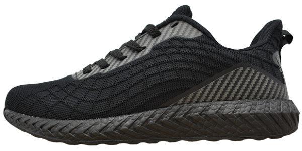 """""""ライト ラン"""" 中高生の通学靴として開発されました。白・黒の2色展開です。前後横に反射素材を装着し夜間の下校時にも安心。底は2層構造で耐久性もありクッション性に優れているだけでなく、とにかく軽量です。"""